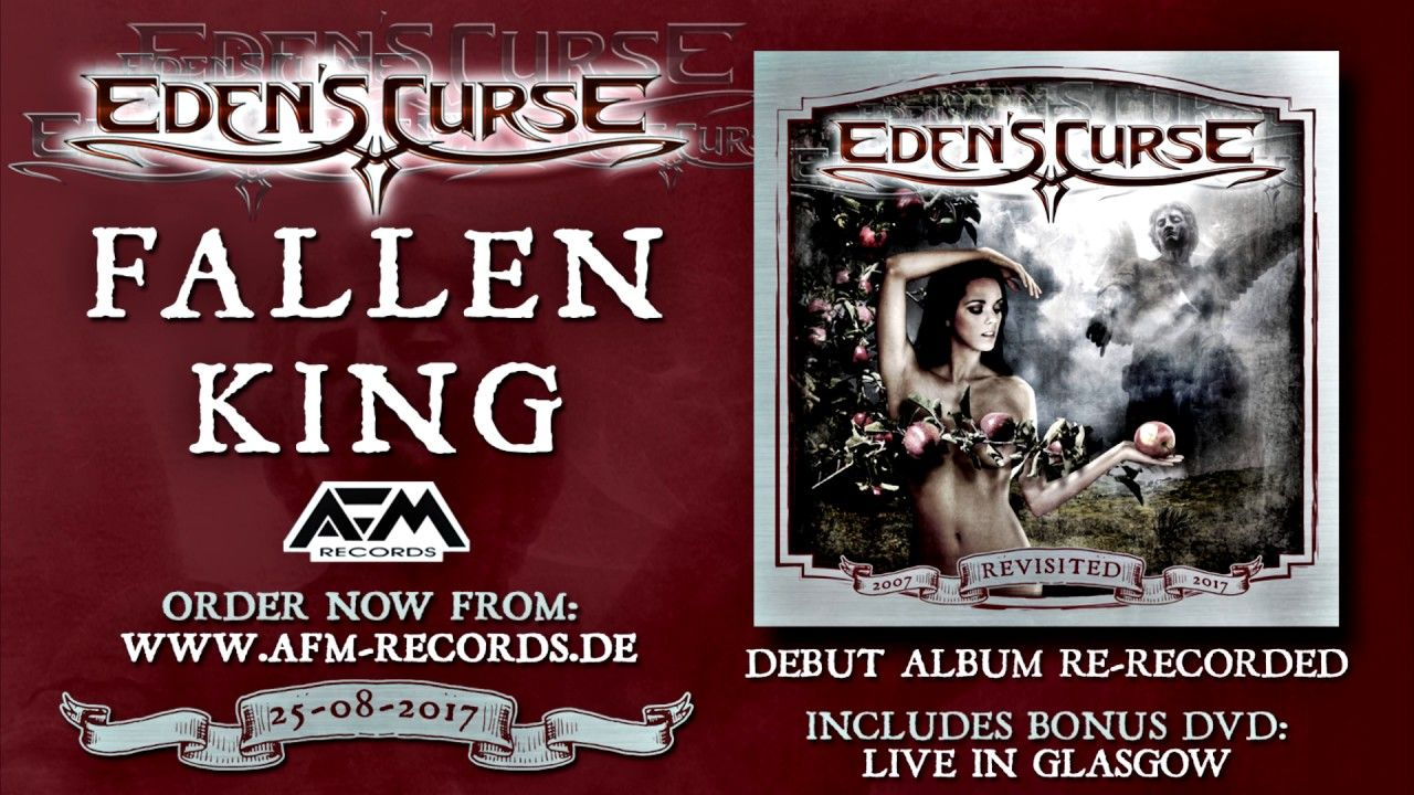 EDEN'S CURSE - Fallen King (2017) / official audio video / AFM Records