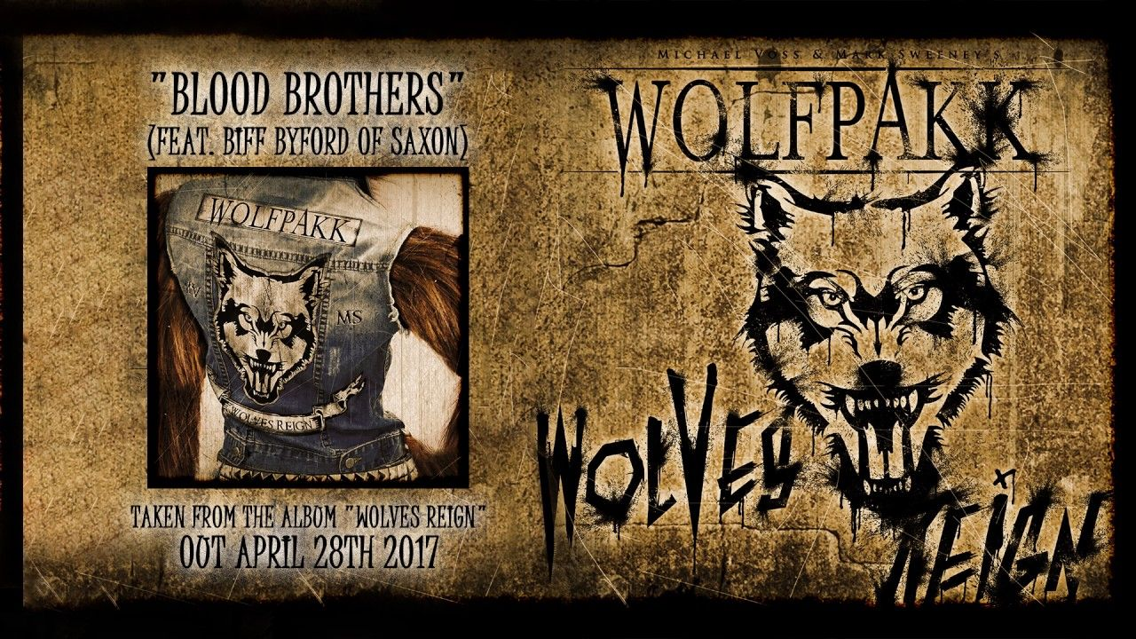 WOLFPAKK - Blood Brothers - feat. Biff Byford (2017) // official audio video // AFM Records